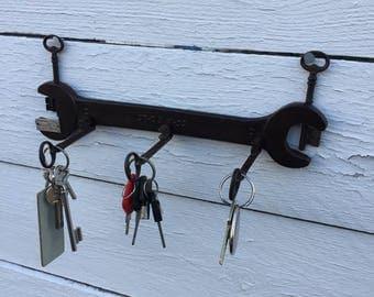 Upcycled industrial loft deco key very old keys