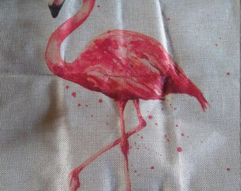 Pink Flamingo pillow cover