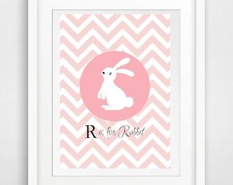 Rabbit printable, Rabbit Art, Printable Nursery art,  Nursery Art, Nursery Rabbit Art, Instant Printable Art Decor, Instant Digital Download