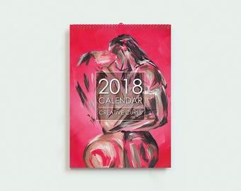 2018 Calendar - Wall Calendar, Christmas Gift, Wall Planner 2018,