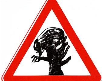 Alien sticker. Xenomorph sticker. Alien laptop sticker. Alien laptop decal. Alien decal