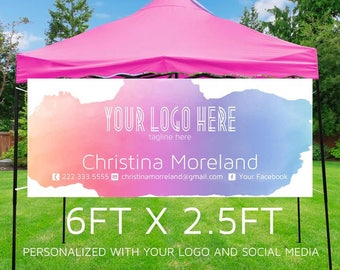 Pop-up Boutique Banner | Consultant Banner | Watercolor Business Banner | Printable Banner Party Banner {6ft x 2.5ft} **DIGITAL FILE ONLY**