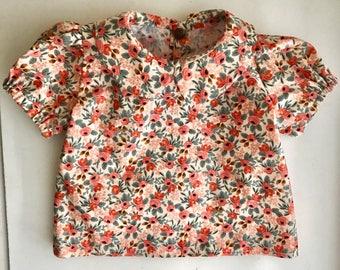 Peter Pan Collar Shirt | Rosa Floral Pink
