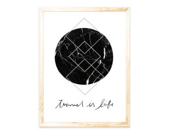 Poster, print, world, travel, marble, geometric, forms