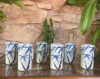 Tall Stoneware Japanese Mugs