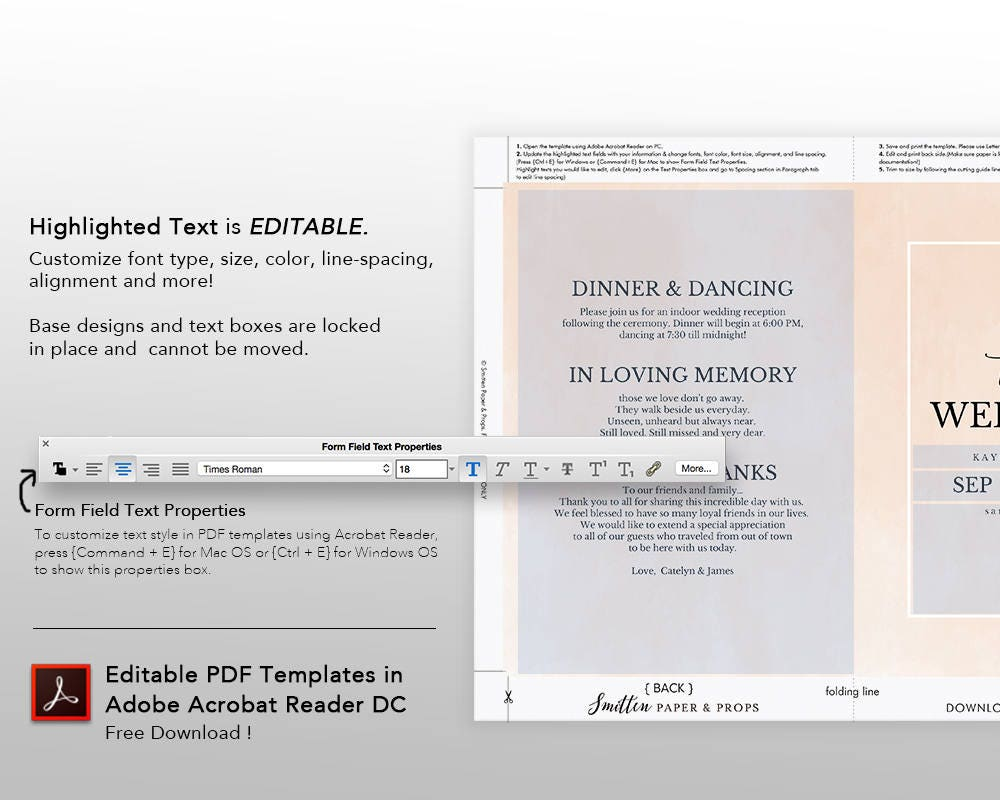 Wedding Program Book Template, Printable Wedding Program, Catholic ...