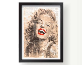Marilyn Monroe news gloss print