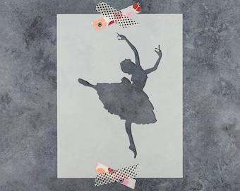 Ballerina Stencil - Reusable DIY Craft Stencils of a Ballerina Dance