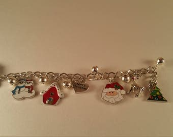 Christmas Bracelet, Holiday Jewelry, Gift