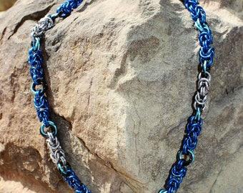 Byzantine Rose Necklace - Ocean