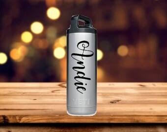 Custom Name Vinyl Decal for Water Bottle