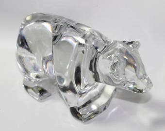 """Waterford 6"""" Grizzly Bear Figurine, signed and has UPC sticker, 2 1/2 Pounds of crystal"""
