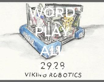2928 Viking Robotics Drawing - IRI Auction Drawing Scan