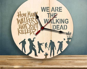 The Walking Dead Clock, Gifts for Her, Gifts for Him