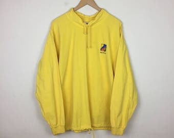 Vintage MEXICO Long Sleeve, Yellow Long Sleeve, Mexico Sweater