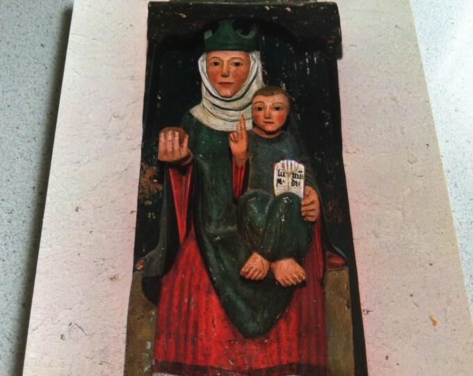 Vintage Religion Church Churburg Südtirol Maria mit Kind Postcard Maria Photo