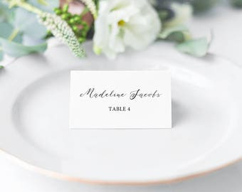 Mirabelle, Printable Calligraphy Style Place Cards/ Seating Cards