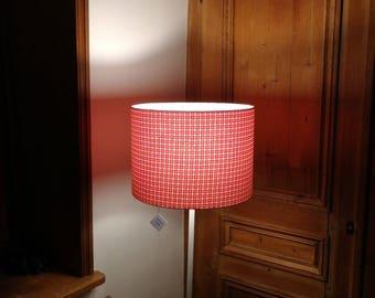 Round Lampshade printed Fuchsia and orange