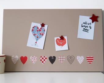 Hearts Magnetic Noticeboard