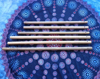 Overtone flutes in bamboo