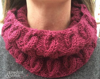 Hand Knitted Snood Scarf