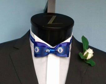 Chelsea Personalised Groom's Wedding Bow Tie