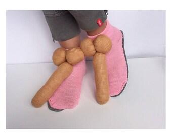 penis Slippers, alternative Slippers, dick socks, cock slipper, adult Slippers, knitted prick, willy Slippers, organ socks, husband gift