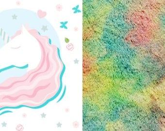 Unicorn Horse Rainbow  Blanket Made to order
