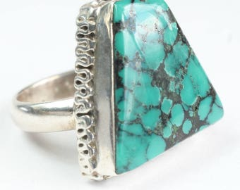 Turquoise Ring Sterling Silver Native American Indian Navajo