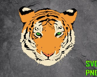 TIGER SVG for cutting machines Svg digital files Instant download cutting machine Laser engraving files Silhouette files Cameo Files