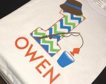 The BIG One Fishing Birthday Shirt