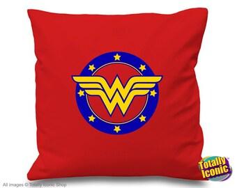 Wonder Woman Retro - Pillow Cushion Cover - Comic Book Hero Inspired-Diana Princess of the Amazons-Lynda Carter-TV & Film
