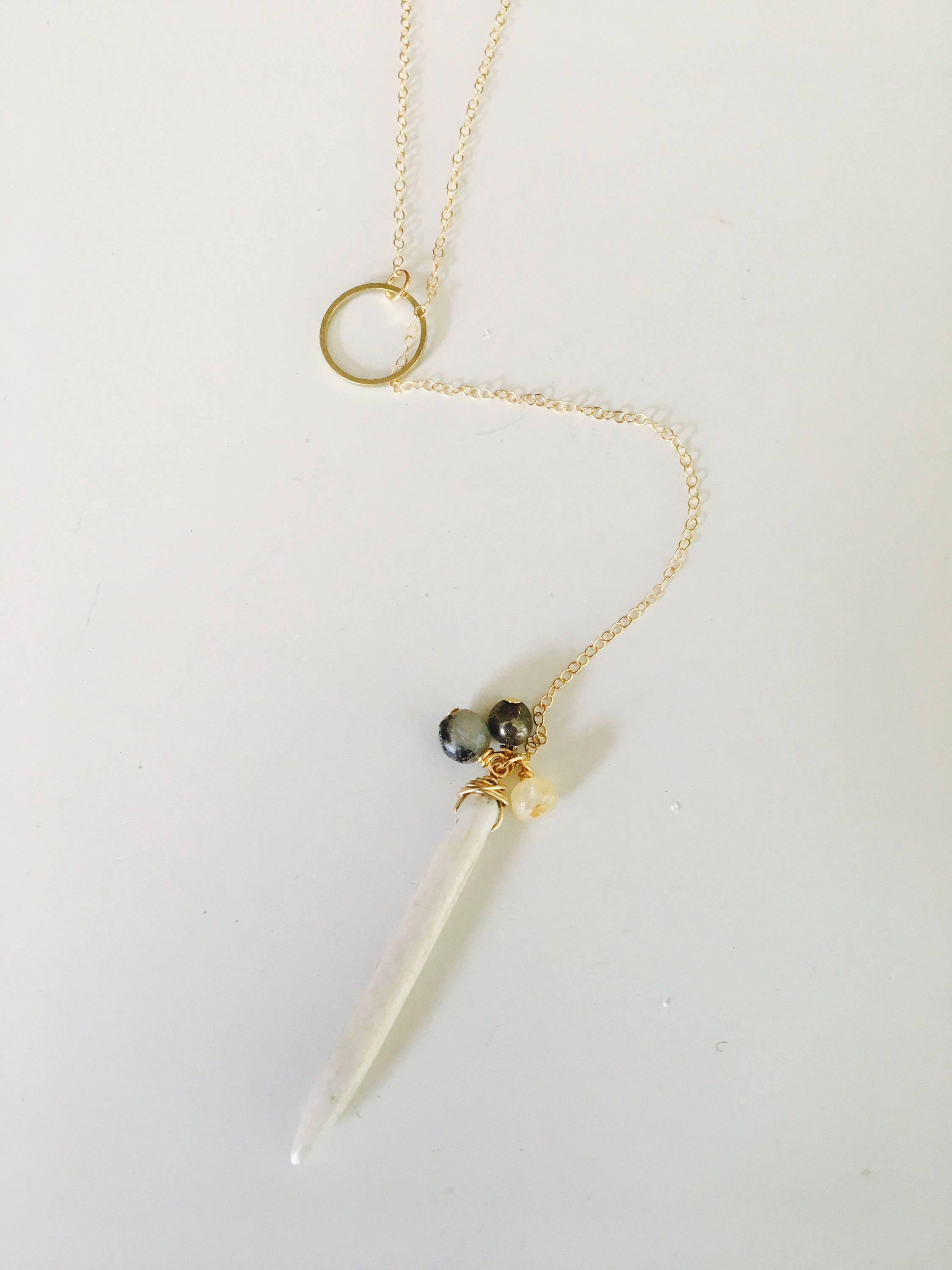 The Jax Necklace// lariat necklace// gold fill lariat// sterling silver lariat// long necklaces//