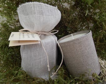 LEMONGRASS scented with essential oils, organic, skin natural linen, presented in pouch linen veil