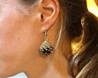 Pinecone Earrings / Jewelry (Unpainted--Short/Medium/Long)