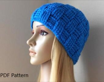 How To Crochet A Basket Weave Hat, PDF Pattern