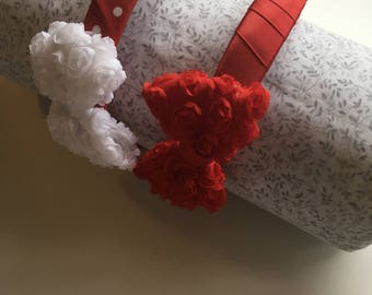 Red Valentine Flower Bow Alice Style Headband