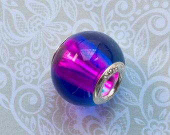 Purple and Blue Murano Glass bead