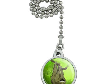 Sloth Watercolor Ceiling Fan and Light Pull Chain