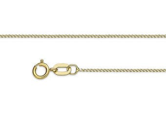 Chain yellow gold 18K 40cm 0.8 mm - chain gold for girl