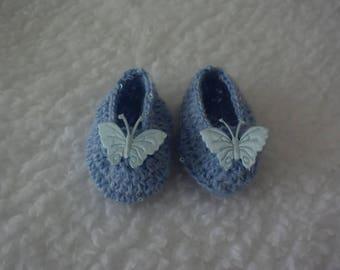 Newborn/Reborn  Baby Princess Crochet Slippers - Tiny Baby Princess - Cinderella Theme