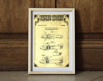 1950 Helicopter Patent, Vintage Helicopter, Helicopter Decor, Aviation Art, Pilot Gift, Aircraft Decor, Helicopter Poster