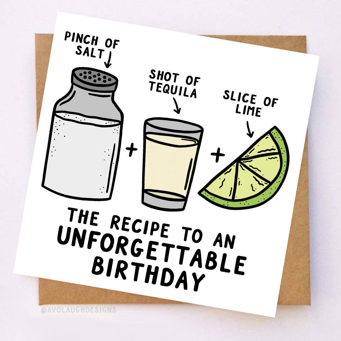 Tequila Birthday Card Alcohol Birthday Card Shot Birthday – Drinking Birthday Cards