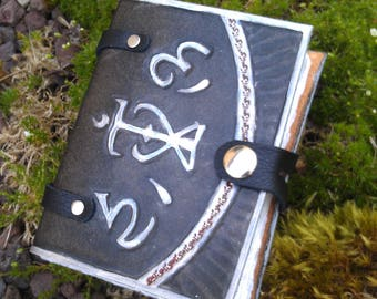 Leather Spellbook LARP small size A7