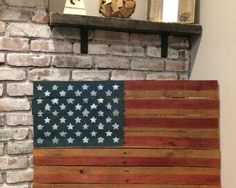 American Flag- Rustic Wood Signs - Farmhouse Decor