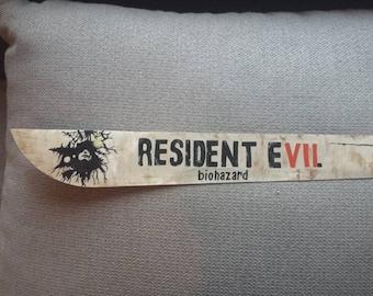 Resident Evil machete hand painted