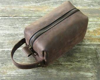 Dopp Kit Bag ,Leather Toiletry Bag,Mens Toiletry Bag Leather ,mens gift