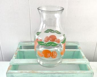 Vintage Anchor Hocking orange juice glass Carafe