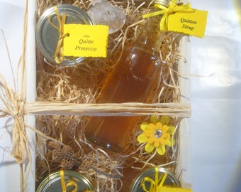 "Gift basket ""quince"" syrup, jelly jam, fruit spread"