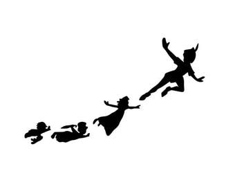 PETER PAN FLYING; Quality Vinyl Decal; Disney Yeti Decals, Disney Car Decals, Gifts for Disney Addicts, Christmas Gifts!